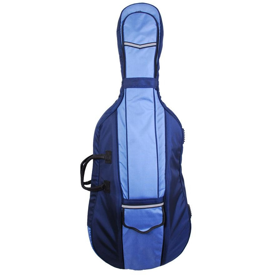Tonareli Cello Designer Super Duty Gig Bag Blue Two-Toned VCDB1002 - Fiddle Cases