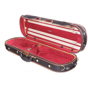 Tonareli Deluxe Violin Case VNDLUX1001 Red - Fiddle Cases