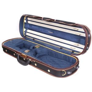Tonareli Deluxe Violin Case VNDLUX1002 Blue - Fiddle Cases