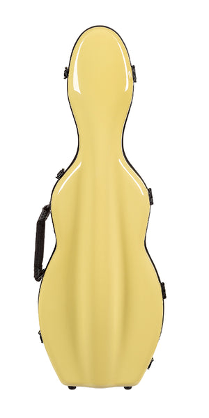 Tonareli Violin Shaped Fiberglass Case VNF1006 Yellow