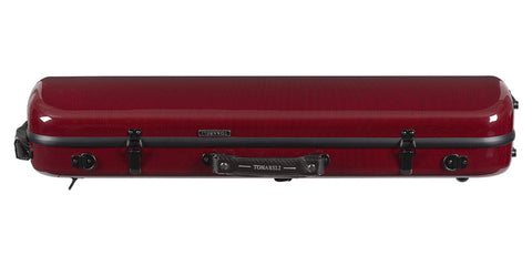 Tonareli Violin Oblong Fiberglass Case VNFO1018 Special Edition Red Graphite