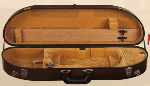 Bobelock 1047 Half-Moon Fiberglass Violin Case Burgundy/Tan - Fiddle Cases