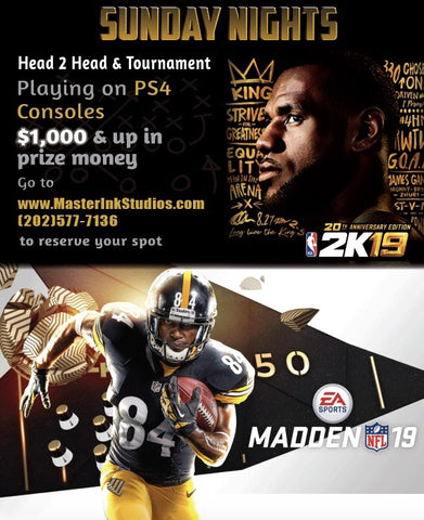 NBA2k & Madden 2019 Tournament Registration