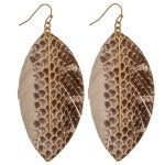3959-Leather Feather Earrings