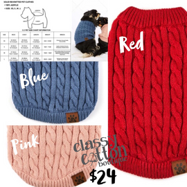 3414-C.C knitted Pet Sweater