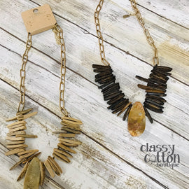 3912-Natural Stone Necklaces