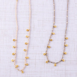4074-Dainty Faceted Beaded Necklaces