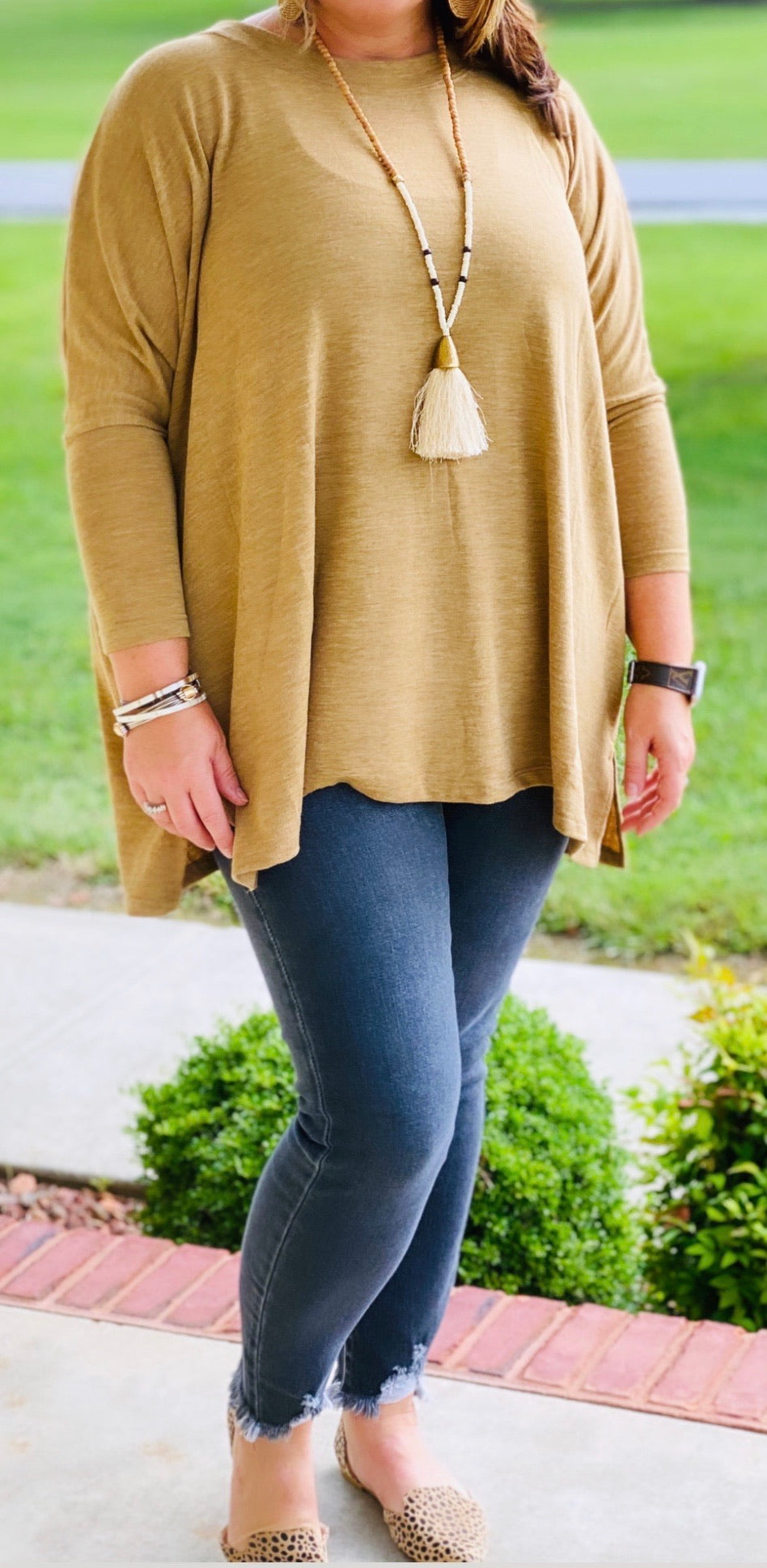 4913-Fall Feels Tunic (camel)