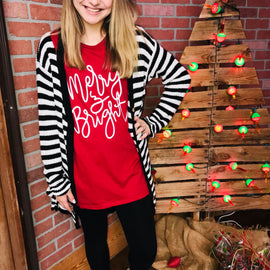 3605-Merry and Bright SS Tee