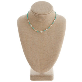 3879-Turquoise Star Necklace