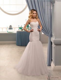 BEAUTIFUL MERMAID SLEEVELESS WHITE WEDDING DRESS - Bijou