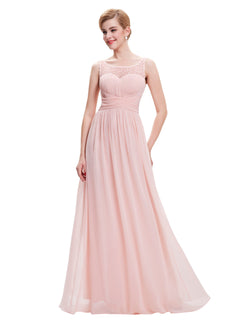 CHEAP SLEEVELESS FLOOR LENGTH BRIDESMAID DRESS