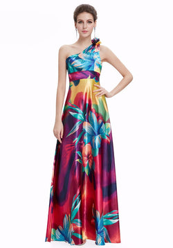 MULTI-COLORED BEAUTIFUL FLOOR LENGTH DRESS FOR PARTY