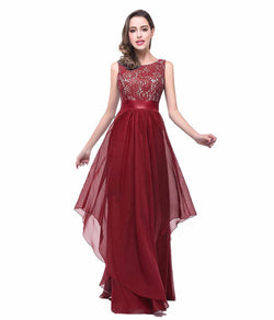 STYLISH SLEEVELESS FLOOR LENGTH BRIDESMAID DRESS