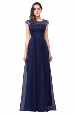 AMAZING BLACK SLEEVELESS FLOOR LENGTH BRIDESMAID DRESS