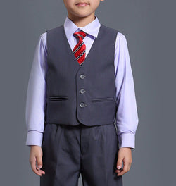 BEAUTIFUL GREY FORMAL BOYS SUIT FOR WEDDINGS