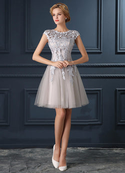 GOOD LOOKING KNEE LENGTH BRIDESMAID DRESS