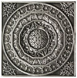 "1426 PLOX BENI PARELL ANTIQUE SILVER 2.3"" X 2.3"""