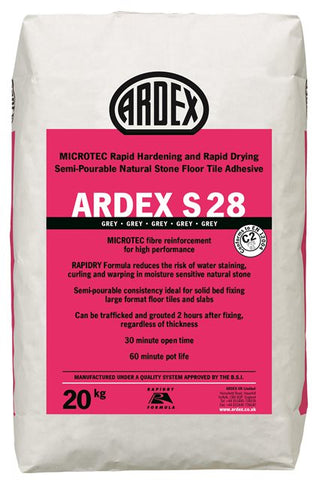 S 28 ARDEX  Rapid-Set, Rapid-Dry, Super-Format Tile and Uncoupling Membrane Mortar
