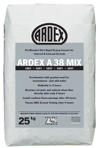 ARDEX A 38 MIX   Rapid-Set Pre Mixed Screed