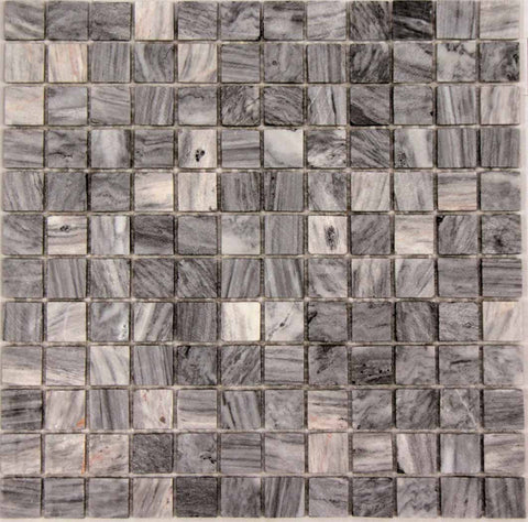 Cloud Grey Mosaic Real Marble Cut 1x1