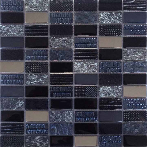 City Black Mosaic