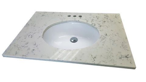 Carrara Quartz Vanity Top