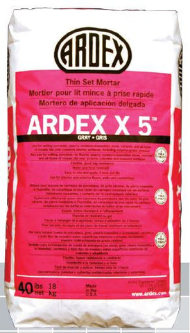 X5 Ardex Flexible Tile and Stone Mortar