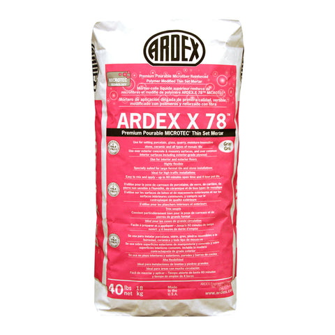 X 78  Semi-Pourable Tile and Stone Mortar