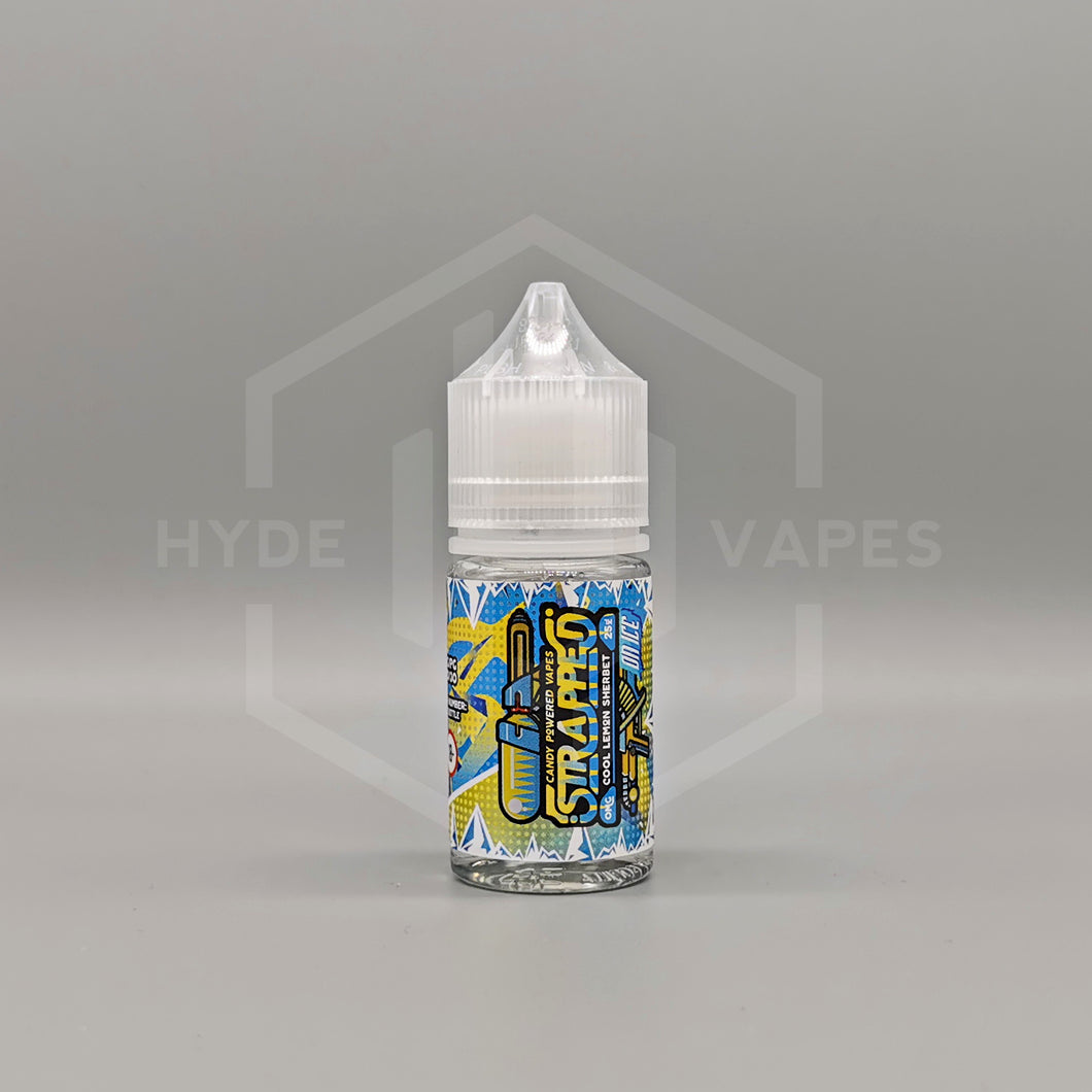 Strapped E Liquid - Cool Lemon Sherbet On Ice - Hyde Vapes