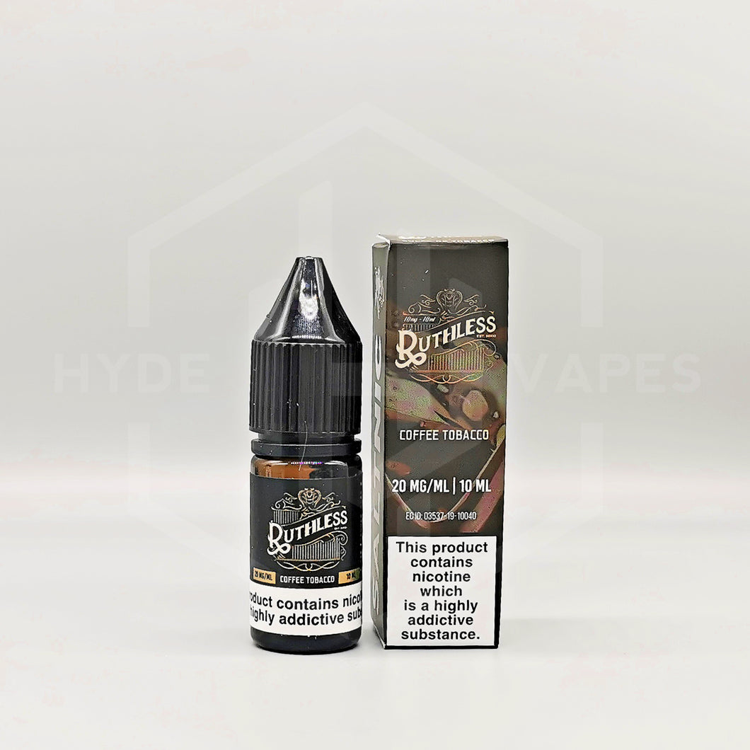 Ruthless Nic Salt E-Liquids - Coffee Tobacco - Hyde Vapes