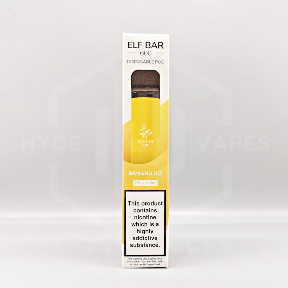 Elf Bar Disposable - Banana Ice - Hyde Vapes - Waterloo