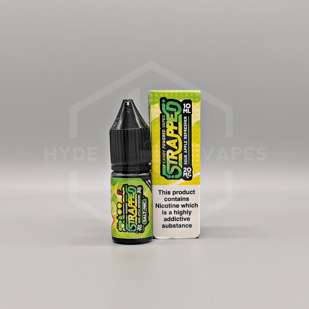 Strapped Candy Nic Salt - Sour Apple Refresher - Hyde Vapes - Waterloo