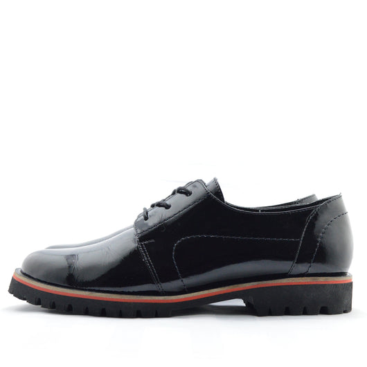 Oxford Negro Brillo  Suela gruesa