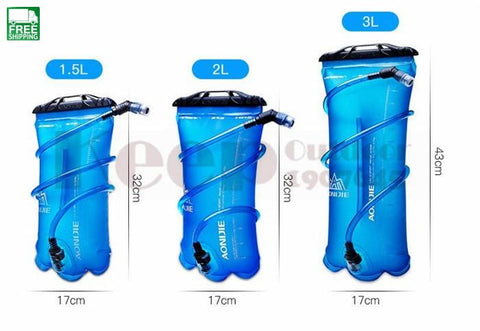1.5L/2L/3L Outdoor Cycling Running Foldable Tpu Water Bag Sport Hydration Hydration Backpack