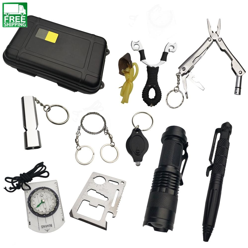 6a8631091c6 ... 10 In 1 Survival Kit Set Outdoor Edc Camping Equipment Travel  Multifunction Safety   Survival ...