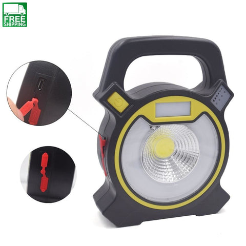 15W Cob Led Portable Floodlight Lantern Include Battery / Black Lights & Lanterns