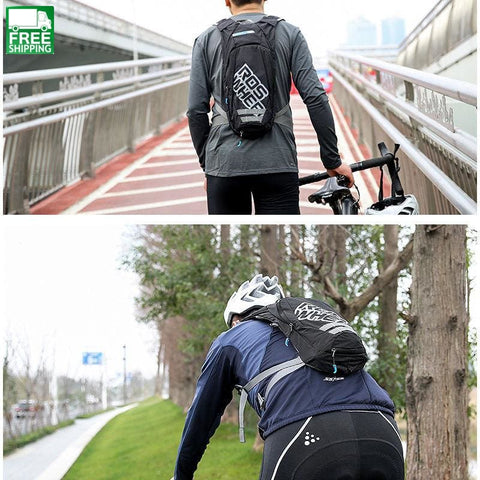 2.5L Bike Cycling Rucksack Backpack Hydration Pack Water Bladder Bag Green Hydration Backpack