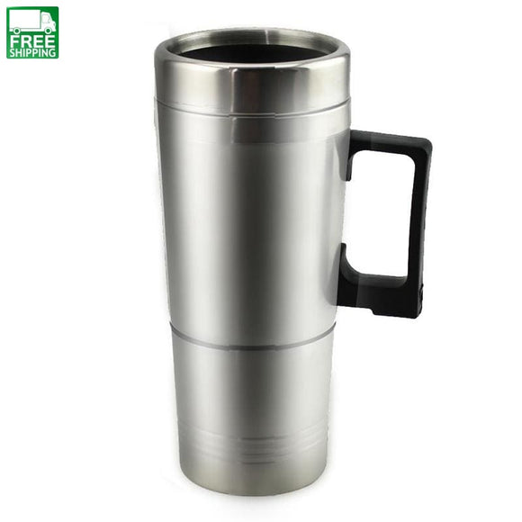300Ml 12V Car Based Heating Cup Stainless Steel Kettle Travel Outdoor Camping