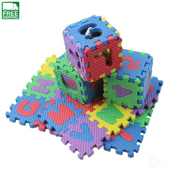 36Pcs/set Baby Foam Puzzle Mats Alphabet Numerals Soft Floor Kids Crawling Outdoor Toys