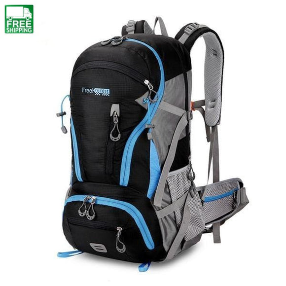 45L Large Capacity Climbing Hiking Molle Backpack Water Resistant Camping Black Camping Backpacks