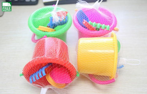 4Pcs/lot Beach Bucket Summer Toys Play Sand Water Tool Swimming Pool Outdoor