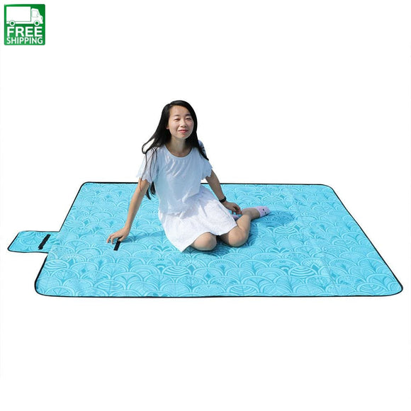 59*79 Large Waterproof Picnic Blanket Outdoor Fleece Beach 1.5*2M Sleeping Bags & Camp Bedding