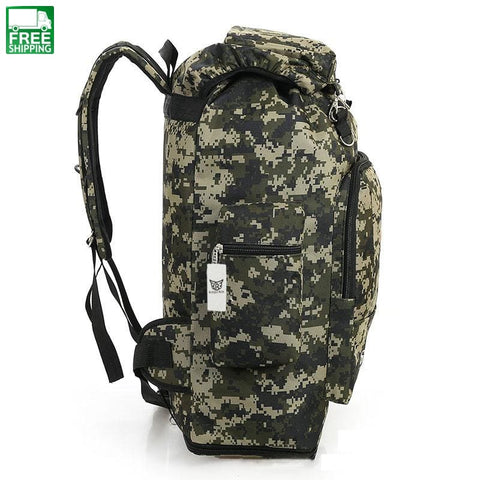 85 Liters Large Capacity Mens Travel Bags Backpack Bp47200Camo Camping Backpacks