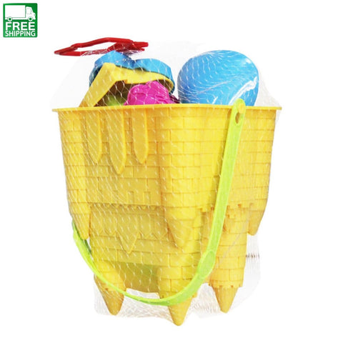 8Pcs Beach Toy Set Castle Bucket Shovel Children Safety Plastic Fancy Outdoor Toys