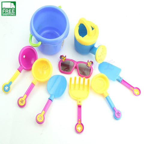 9Pcs/set Beach Sand Playing Tool Spade Shovel Pit Toys For Children Water Plastic Outdoor Toys