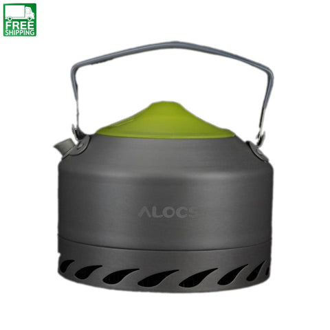 Aluminum Oxide Outdoor Camping Picnic Pot Teapot Water Kettle 0.9L Camp Kitchen