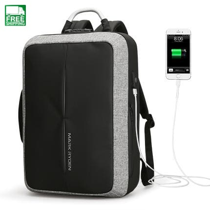 Anti-Thief Usb Recharging Men Backpack No Key Tsa Lock Design Business Backpacks & Bags