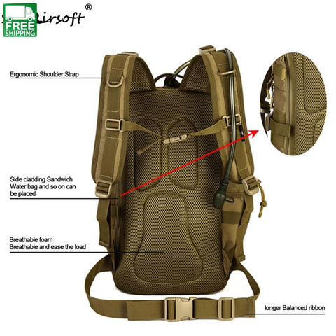 Backpack Army Shoulder Military Multi-Purpose Molle Sport Cb / 30 - 40L United States Camping