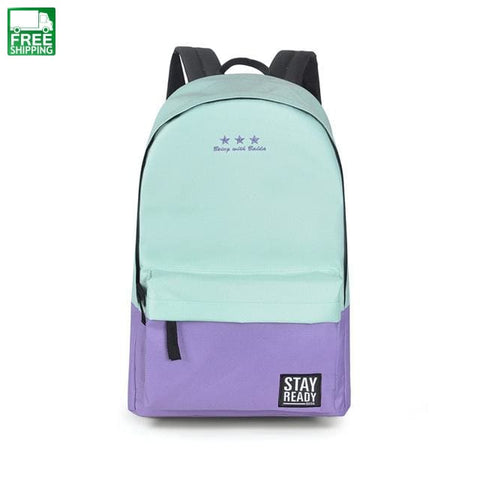 Backpack Women Children Schoolbag Leisure Korean Ladies Pink / * Camping Backpacks